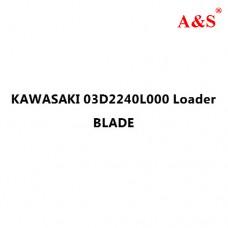KAWASAKI 03D2240L000 Loader BLADE